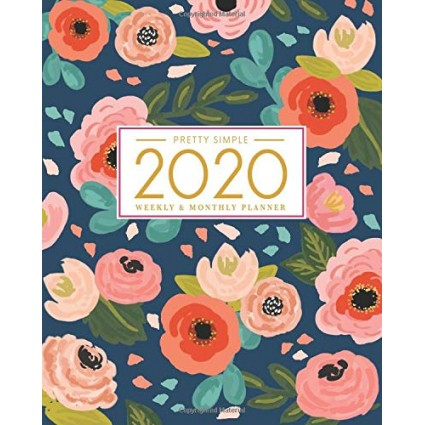 2020 Planner Weekly And Monthly by Pretty Simple