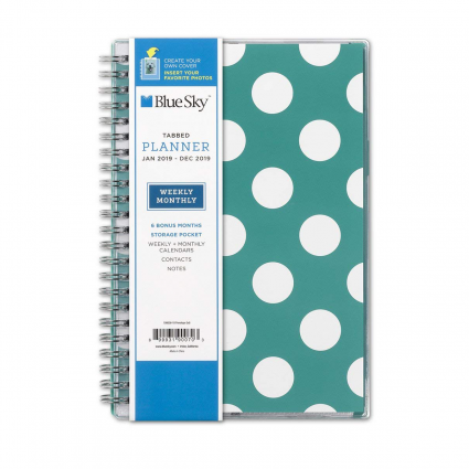 Blue Sky 2019 Weekly & Monthly Planner