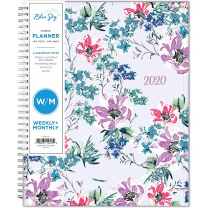 Blue Sky 2020 Weekly & Monthly Planner