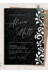 Download Black and White Wedding Invitation - Printable PDF