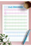 Download Body progress template - Printable PDF