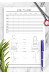 Download Body Tracker Template - Printable PDF