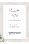 Download Classic Elegant Wedding Reception Card - Printable PDF