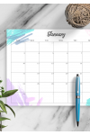 Download Colored Monthly Calendar - Printable PDF