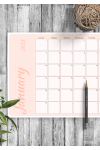Download Colored Pink Monthly Calendar - Printable PDF