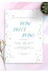 Download Confetti Housewarming Invitation - Printable PDF