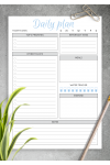 Download Daily Plan with to-do list & important times - Printable PDF
