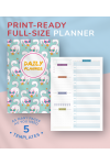 Download Daily Planner Undated - Casual Style - Printable PDF