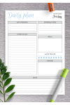 Printable Dated Daily Planner with To Do List PDF Download