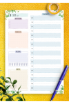 Printable Dated Daily Planner - Floral Style PDF Download