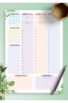 Printable Dated Weekly Planner - Floral Style PDF Download