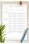 Printable Dated Weekly Planner - Original Style PDF Download