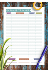 Download Expense Tracker - Casual Style - Printable PDF