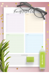 Download Family To Do List for Four Persons - Printable PDF