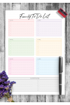 Download Family To Do List for Six Persons - Printable PDF