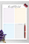 Printable Family To Do List for Three Persons PDF Download