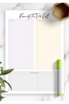 Printable Family To Do List for Two Persons PDF Download