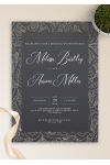 Download Fancy Pattern Rehearsal Dinner Invitation - Printable PDF