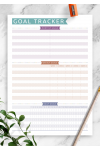 Download Goal Tracker - Casual Style - Printable PDF