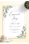 Printable Golden Leaves Engagement Party Invitation PDF Download