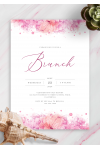 Download Hibiscus Watercolor Brunch Invitation - Printable PDF