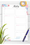 Download Hourly Planner with Daily Tasks & Goals - Printable PDF