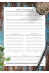 Download Monthly Budget - Original Style - Printable PDF