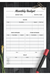 Printable Monthly budget with Recap section PDF Download