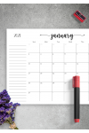 Download Monthly Calendar with Notes Section - Printable PDF