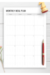 Printable Monthly Meal Plan PDF Download