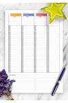 Printable Multicolored weekly planner with todo list PDF Download