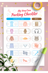 Printable Packing Checklist for Girl PDF Download