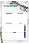 Download Party Plan - Casual Style - Printable PDF