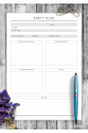 Download Party Plan - Original Style - Printable PDF