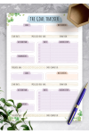 Printable Personal Goal Tracker - Floral Style PDF Download