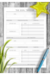 Download Personal Goal Tracker - Original Style - Printable PDF
