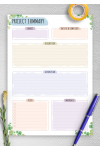 Printable Project Planning - Floral Style PDF Download