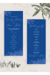 Printable Royal Blue and Silver Wedding Program Card PDF Download