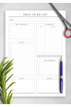 Printable Scheduled Daily To Do List - Original Style PDF Download