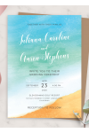 Download Sea Breeze Beach Wedding Invitation - Printable PDF
