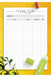 Download Simple budget template - Printable PDF