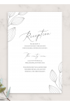 Download Simple Floral Wedding Reception Card - Printable PDF