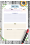 Download SMART Goal Template - Floral Style - Printable PDF