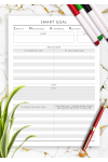 Download SMART Goal Template - Original Style - Printable PDF