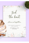 Printable Soft Floral Wedding Announcement PDF Download