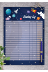 Printable Space Reading Log Template For Kids PDF Download