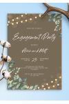 Download String Lights Engagement Party Invitation - Printable PDF