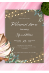 Printable String Lights Rehearsal Dinner Invitation PDF Download
