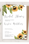 Printable Sunflower Bridal Shower Invitation PDF Download