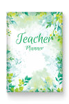 Printable Teacher Planner Hardcover - Casual Style PDF Download
